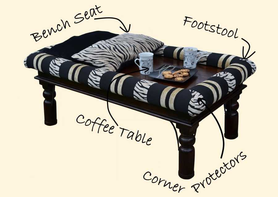 Bench Seat Coffee Table Footstool Corner Protection