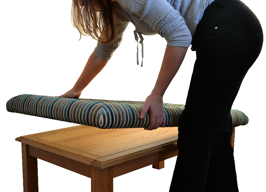 Fitting a padable cushion to a coffee table