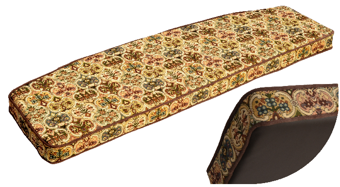 Padable Custom Made Window seat cushion in fabric to match customers furniture
